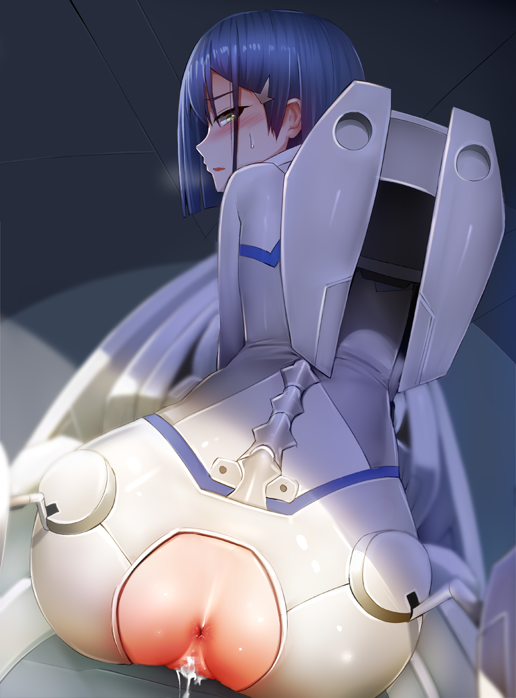 naked in franxx darling the Ass up face down naked