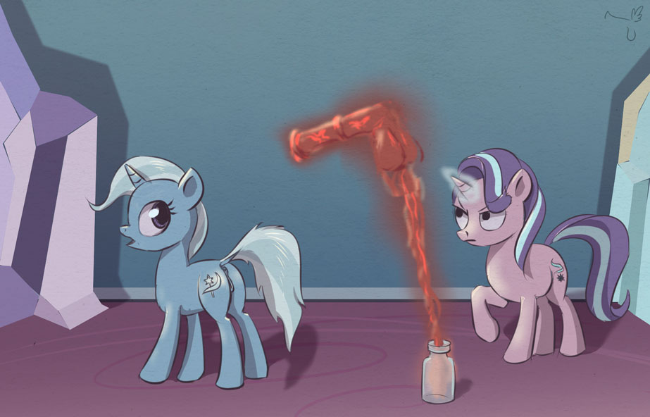 pony magic friendship is little my starlight glimmer Clover all hail king julien