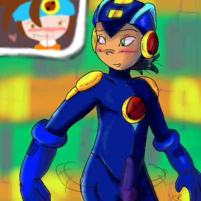 megaman exe exe and roll Touch the cow do it now