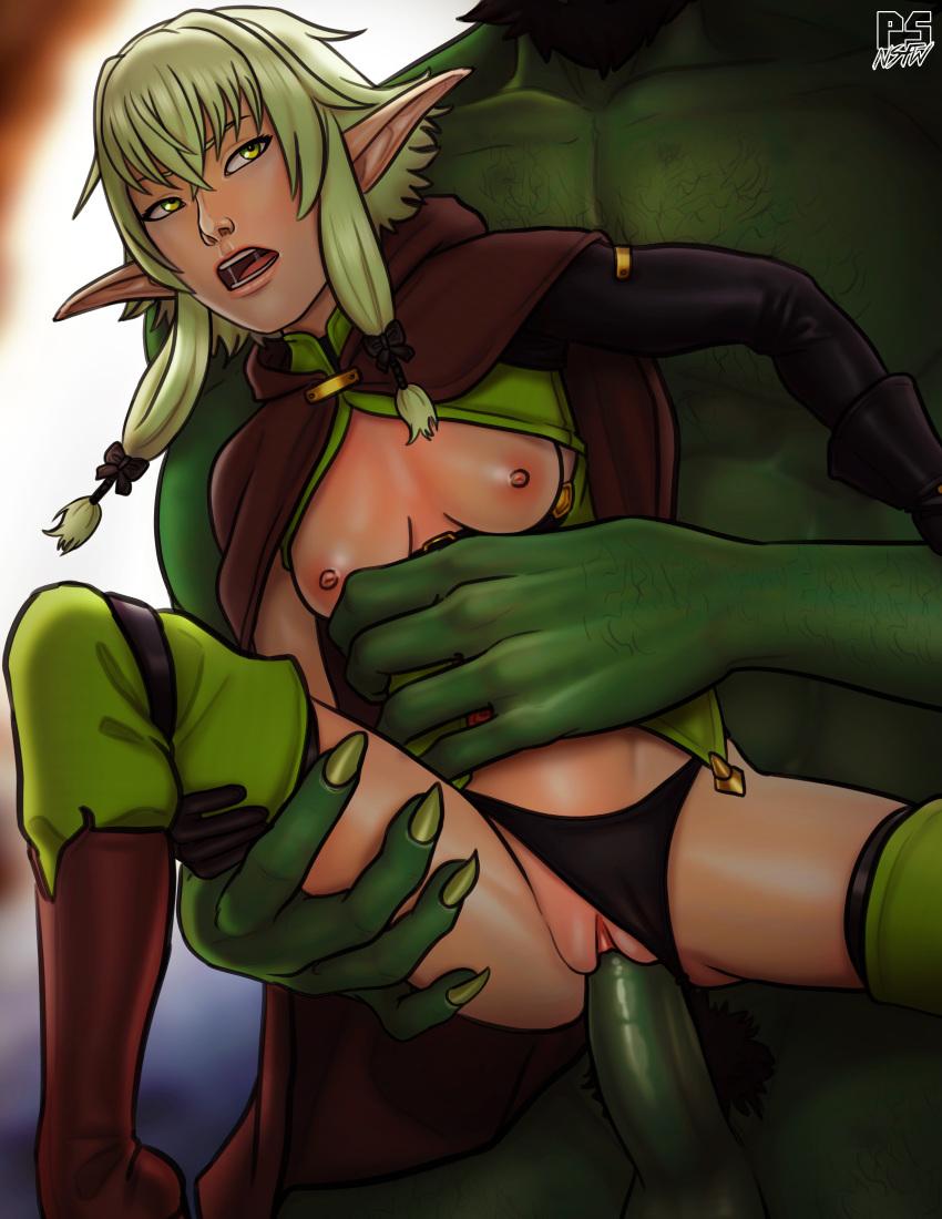 rape goblin high archer elf slayer Miss kobayashi's dragon maid tohru nude