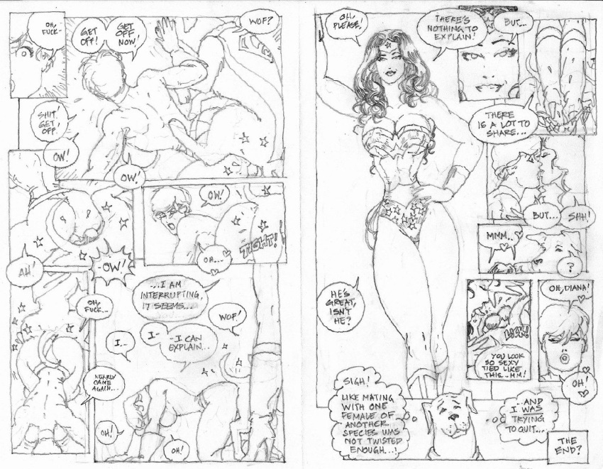 naked wonder woman Bugs bunny ears and tail